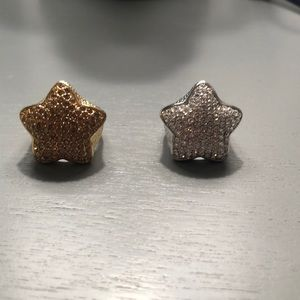 Jewelry - Gold and Silver Rhinestone Star Rings